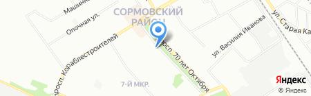 Виктория на карте Нижнего Новгорода