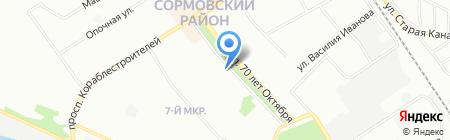 Дюймовочка на карте Нижнего Новгорода
