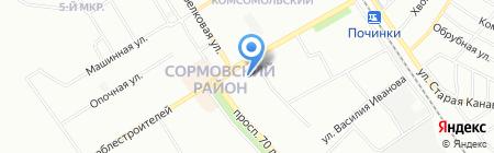 Глобус-Трэвел на карте Нижнего Новгорода