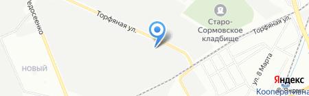 Ясные зори на карте Нижнего Новгорода