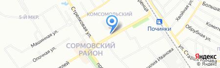 ЛЕТО-ТУР на карте Нижнего Новгорода