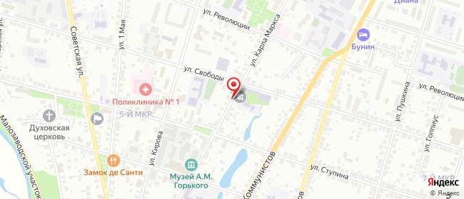 Карта расположения пункта доставки СИТИЛИНК в городе Арзамас