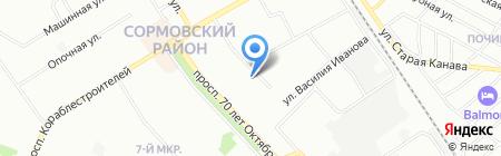 Детский сад №28 на карте Нижнего Новгорода
