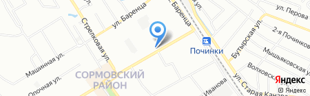 Юнга на карте Нижнего Новгорода