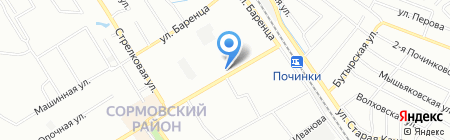Дубки на карте Нижнего Новгорода