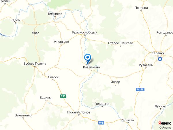 село Троицк на карте