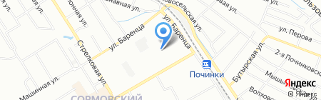 ТЕТ на карте Нижнего Новгорода