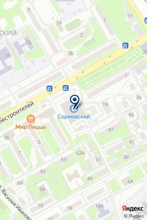 МАГАЗИН МЕБЕЛЬ ПЛЮС на карте Нижнего Новгорода