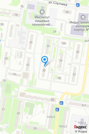Дом 38 по ул. Спутника, ЖК Спутник на Яндекс.Картах
