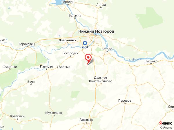 посёлок Красный Кирпичник на карте