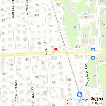 г. Нижний Новгород, ул. Чаадаева, на карта