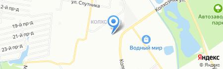Сазановский на карте Нижнего Новгорода