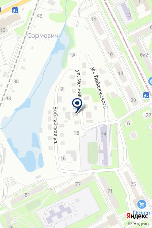 СТРОИТЕЛЬНАЯ ФИРМА ЮГУС на карте Нижнего Новгорода