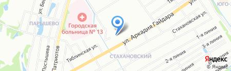 Афелия на карте Нижнего Новгорода