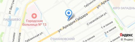 Зайка на карте Нижнего Новгорода