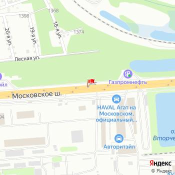 г. Нижний Новгород, шоссе. Московское, на карта