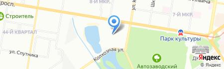 Стриж на карте Нижнего Новгорода