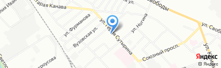 Тектоника на карте Нижнего Новгорода