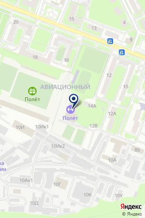 БАССЕЙН ПОЛЕТ на карте Нижнего Новгорода