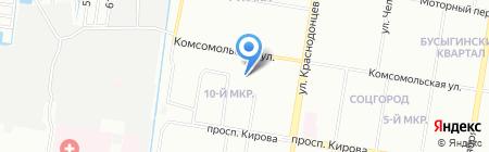 Детский сад №44 на карте Нижнего Новгорода