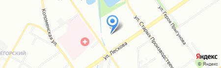 Детский сад №55 на карте Нижнего Новгорода