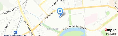 Детский сад №104 Рябинка на карте Нижнего Новгорода