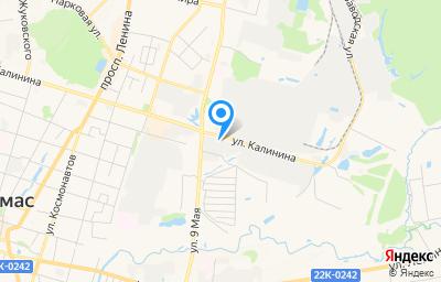 Местоположение на карте пункта техосмотра по адресу Нижегородская обл, г Арзамас, ул Калинина, д 58