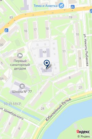 ДЕТСКИЙ САД № 101 на карте Нижнего Новгорода