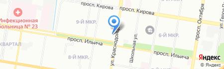 Магазин игрушек на ул. Краснодонцев на карте Нижнего Новгорода