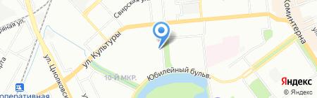 Парикмахерская на ул. Никиты Рыбакова на карте Нижнего Новгорода