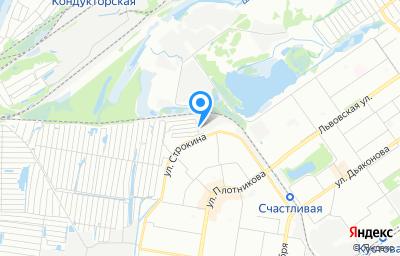 Местоположение на карте пункта техосмотра по адресу г Нижний Новгород, ул Строкина, д 5А