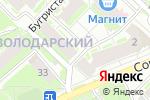 Схема проезда до компании Лига права в Нижнем Новгороде