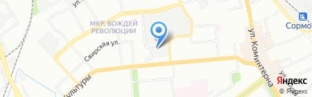 Сормовский на карте Нижнего Новгорода