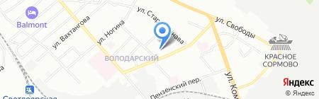 Детский сад №464 на карте Нижнего Новгорода