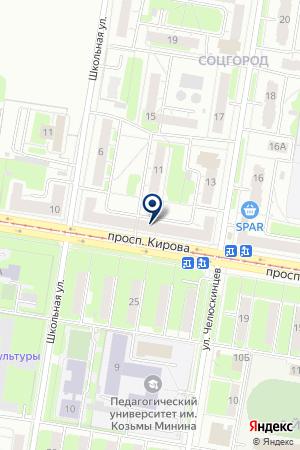 АРЕАЛ на карте Нижнего Новгорода