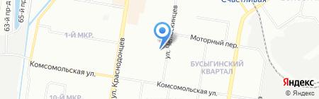 Детский сад №121 на карте Нижнего Новгорода