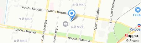 Вкусная линия на карте Нижнего Новгорода