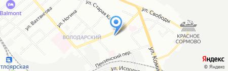 САН РЕМО на карте Нижнего Новгорода
