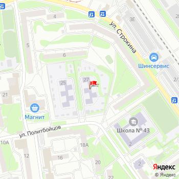 г. Нижний Новгород, ул. Политбойцов,27 на карта