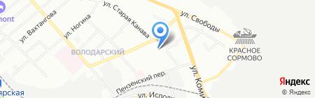 Для вас на карте Нижнего Новгорода