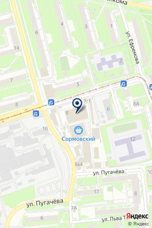 ПТФ МЕБЕЛЬ ПЛЮС на карте Нижнего Новгорода