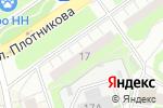 Схема проезда до компании Alibi в Нижнем Новгороде