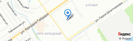 Абсолют-переезд на карте Нижнего Новгорода