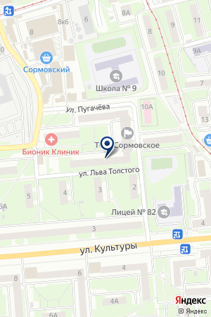 АГЕНТСТВО КОММЕРЧЕСКОЙ НЕДВИЖИМОСТИ ПОДНЕБЕСНОВА Н. А. на карте Нижнего Новгорода