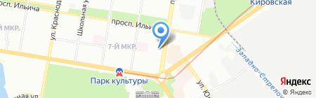 АК Барс Банк на карте Нижнего Новгорода