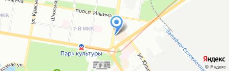 Магазин цветов на проспекте Октября на карте Нижнего Новгорода