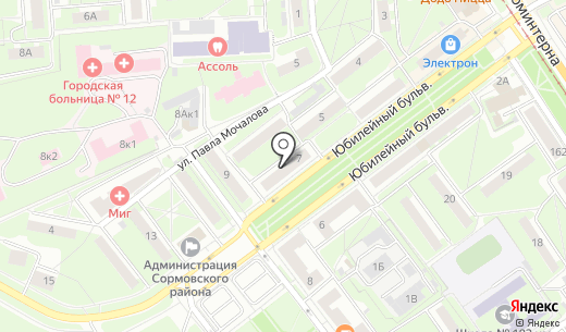 Магазин мужской одежды. Схема проезда в Нижнем Новгороде