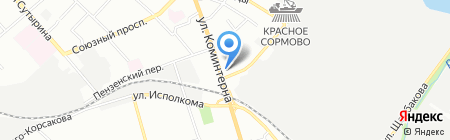Автошкола на карте Нижнего Новгорода