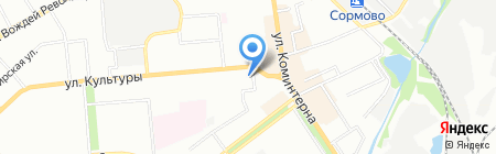 Горздрав на карте Нижнего Новгорода
