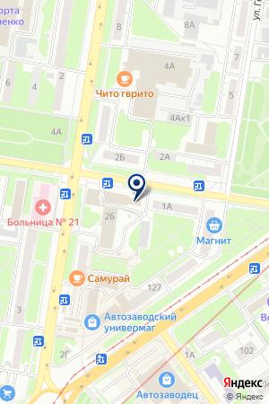 АВТОЗАВОДСКИЙ РАЙОН на карте Нижнего Новгорода
